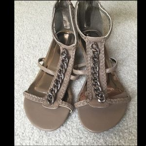 Adorable Taupe Braided Sandals